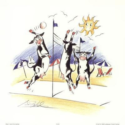 Volleyball art print by Alfred Gockel for $15.00 CAD