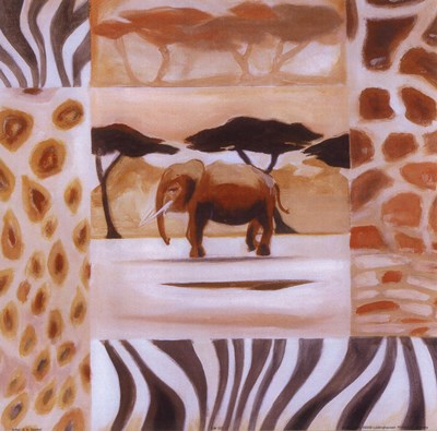 Animals of the Veld - Elephant art print by Alfred Gockel for $15.00 CAD