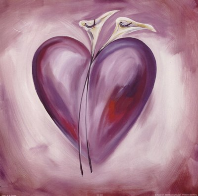 Shades of Love - Lavender art print by Alfred Gockel for $15.00 CAD