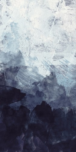 Blue Flow 2 art print by Alicia Vidal for $22.50 CAD