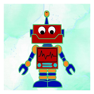 Robot 2 art print by Ann Bailey for $18.75 CAD