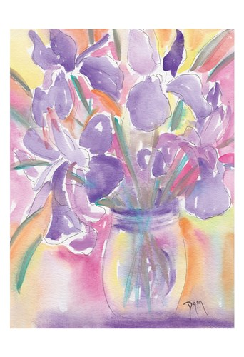 Dutch Iris art print by Beverly Dyer for $22.50 CAD