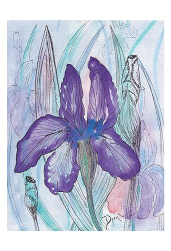 Violet Iris art print by Beverly Dyer for $22.50 CAD