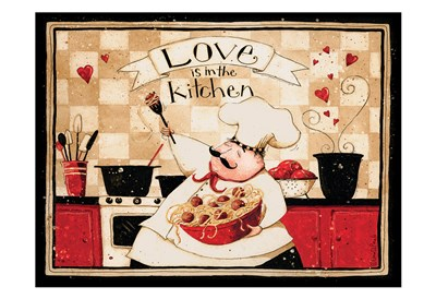 Love Is In The Kitchen art print by Dan Dipaolo for $22.50 CAD