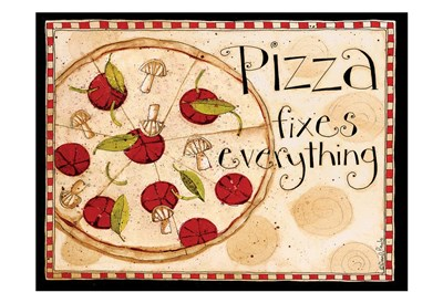 Pizza Fixes Everything art print by Dan Dipaolo for $22.50 CAD