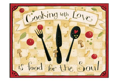 Cooking With Love art print by Dan Dipaolo for $22.50 CAD