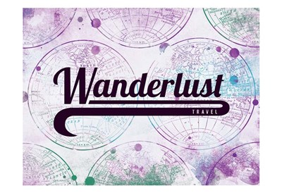 Wanderlust Travel art print by Jace Grey for $22.50 CAD