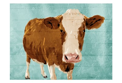 Brown Cow Now art print by Jace Grey for $22.50 CAD