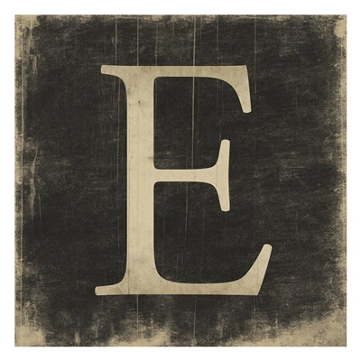 E (Black Background) art print by Jace Grey for $18.75 CAD