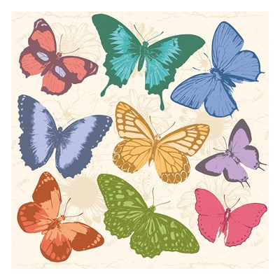 Colorful Butterflies Full art print by Jace Grey for $18.75 CAD