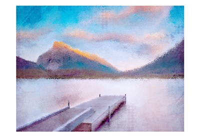 Banff Dock art print by Kimberly Allen for $22.50 CAD