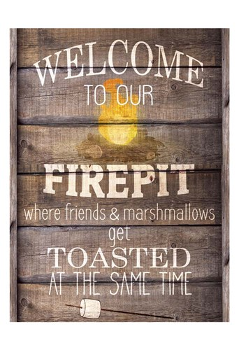 Welcome to our Firepit art print by Kimberly Allen for $22.50 CAD