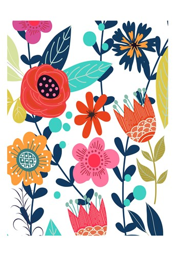 Colorful Floral 1 art print by Kimberly Allen for $22.50 CAD
