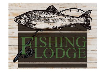 Fishing Lodge art print by Kimberly Allen for $22.50 CAD