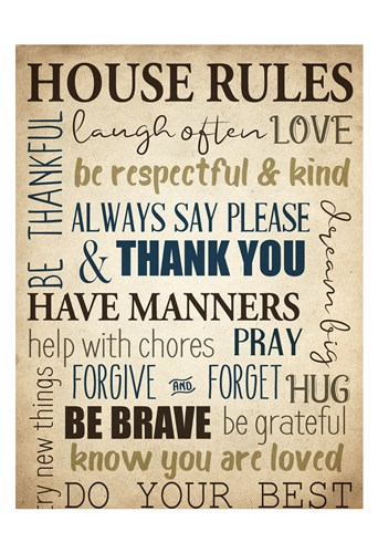 House Rules art print by Kimberly Allen for $22.50 CAD