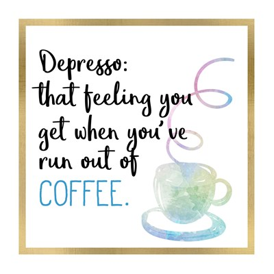 Just Coffee 7 art print by Kimberly Allen for $18.75 CAD