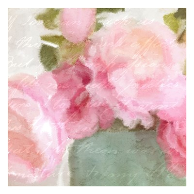 Pink Peonies art print by Kimberly Allen for $18.75 CAD