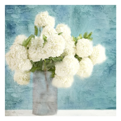Hydrangea Vase art print by Kimberly Allen for $18.75 CAD