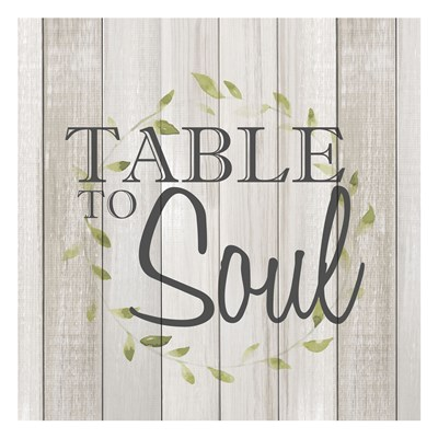 Table to Soul art print by Kimberly Allen for $18.75 CAD