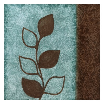 Brown Leaves Square Right art print by Kristen Emery for $18.75 CAD