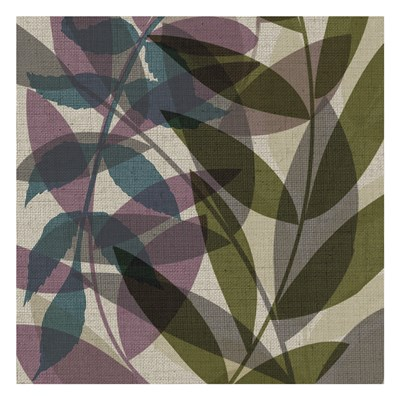 Purple Green Leaves art print by Kristen Emery for $18.75 CAD