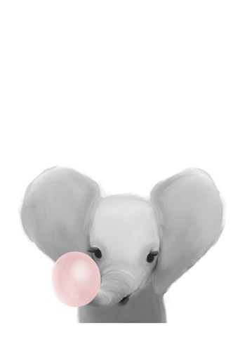 Elephant Bubble Gum. art print by Leah Straatsma for $22.50 CAD