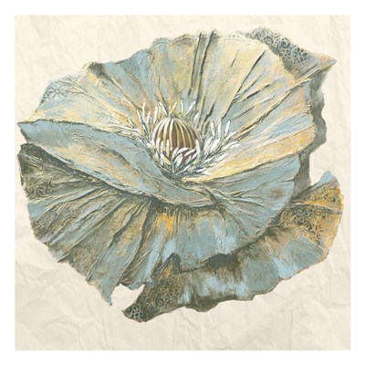 Sapphire Bloom 1 art print by May for $18.75 CAD