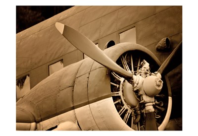 Plane Engine 1 art print by May for $22.50 CAD