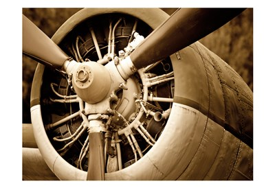 Plane Engine 2 art print by May for $22.50 CAD