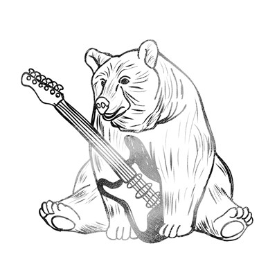 Rockin Bear art print by Marcus Prime for $18.75 CAD