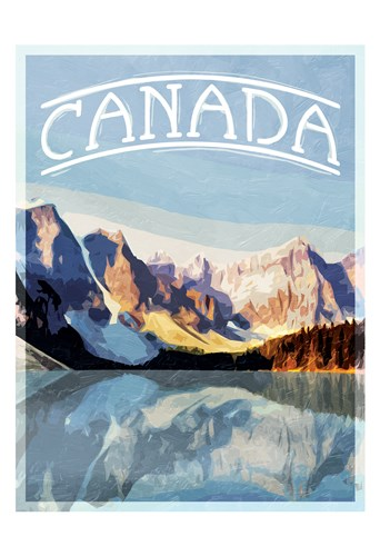 Canada Mountains art print by Milli Villa for $22.50 CAD