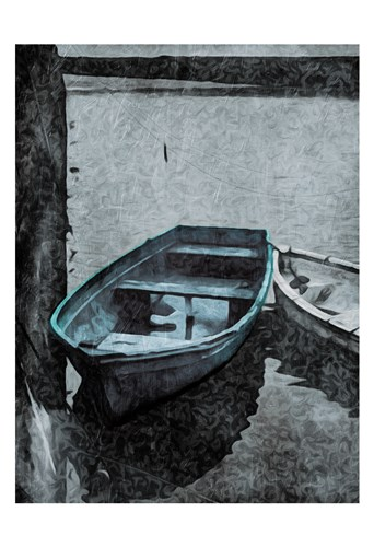 Boat In The Blue art print by Milli Villa for $22.50 CAD