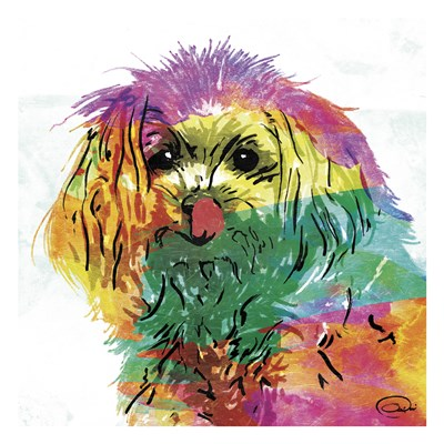 Wet Nose Rainbow art print by OnRei for $18.75 CAD