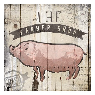 The Farmer Shop art print by OnRei for $18.75 CAD