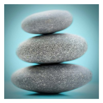 Stacking Stones 1 Teal art print by Sandro De Carvalho for $18.75 CAD