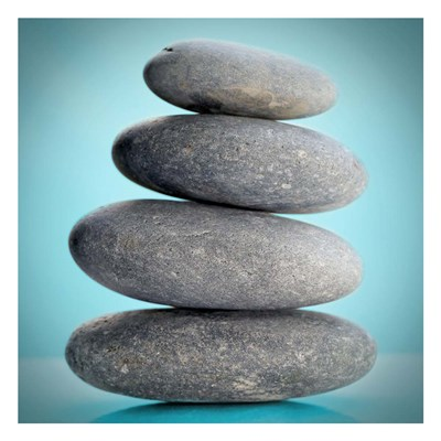 Stacking Stones 2 Teal art print by Sandro De Carvalho for $18.75 CAD