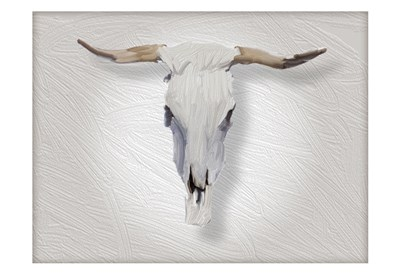 Cow Skull in Alabaster art print by Sarah Butcher for $22.50 CAD