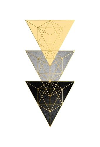 Yellow and Black Geo 3 art print by Urban Epiphany for $22.50 CAD