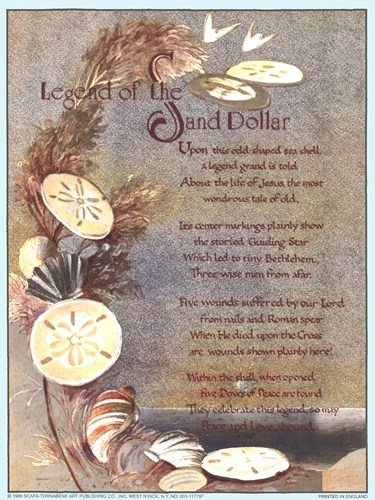 Legend of Sand Dollar art print by Unknown for $8.75 CAD