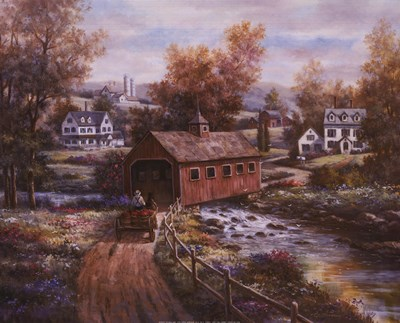 Old Red Mill art print by T.C. Chiu for $18.75 CAD