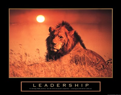 Leadership-Lion art print by Unknown for $20.00 CAD