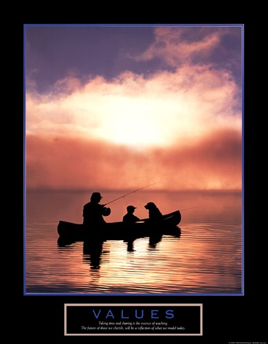 Values-Fishing art print by Unknown for $20.00 CAD