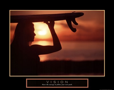 Vision - Female Surfer art print by Unknown for $20.00 CAD