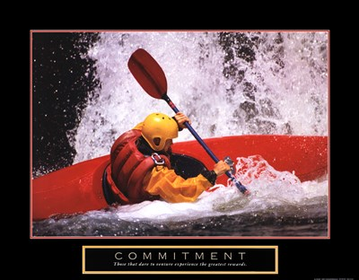Commitment - Kayak art print by Unknown for $20.00 CAD
