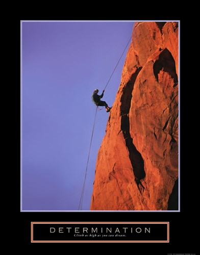 Determination - Climber art print by Unknown for $20.00 CAD