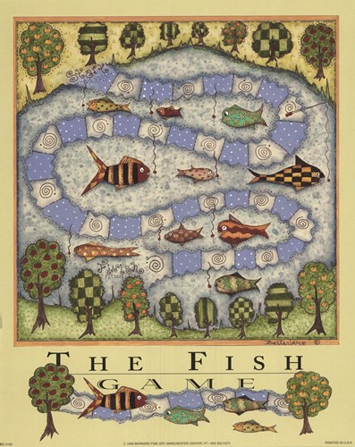 Fish Game art print by Robin Betterly for $10.00 CAD