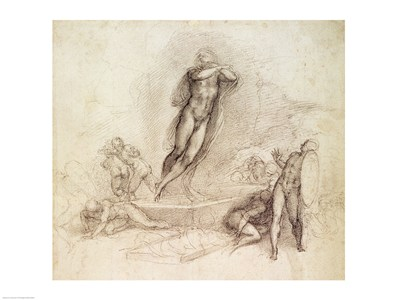 Study for an Ascension art print by Michelangelo Buonarroti for $32.50 CAD