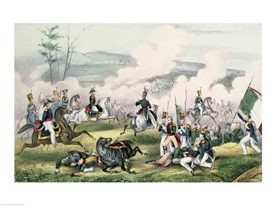 The Battle of Palo Alto, California, 8th May 1846 art print by Unknown for $32.50 CAD