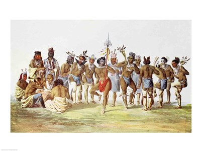 War Dance of the Sauks and Foxes art print by Unknown for $32.50 CAD