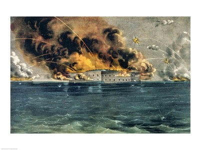 Bombardment of Fort Sumter art print by Unknown for $32.50 CAD